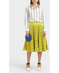CALVIN KLEIN 205W39NYC Logo-print Striped Cotton Shirt - Multicolour