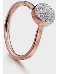 Monica Vinader Ava Button Ring - Multicolour