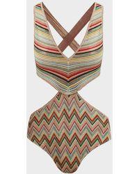Missoni Zigzag Cut-out Swimsuit - Multicolor