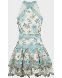 Bronx and Banco Penelope Floral Mini Dress - Blue