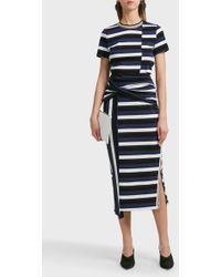 3.1 Phillip Lim - Striped Cotton Skirt - Lyst