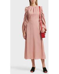 Roksanda | Aruna Rushed Ls Dress | Lyst