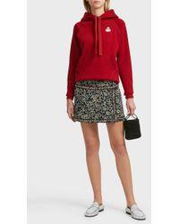 Étoile Isabel Marant Hanon Embellished Cotton And Linen-blend Skirt - Red