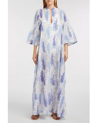 Thierry Colson - Rachel Floral-print Cotton And Silk-blend Dress, M - Lyst
