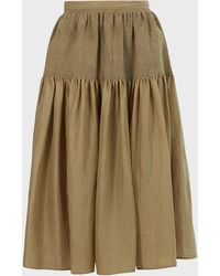 JOSEPH Carter Voile Midi Skirt - Multicolor