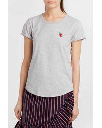 Maison Labiche - Embroidered Cotton-jersey T-shirt - Lyst