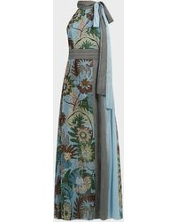 Sachin & Babi Tatum Floral Maxi Dress - Green