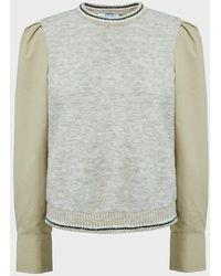 10 Crosby Derek Lam Milton Mixed Media Sweater - Multicolour