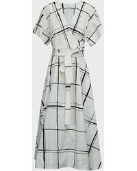 3.1 Phillip Lim Checked Belted Wrap-over Dress - Multicolour