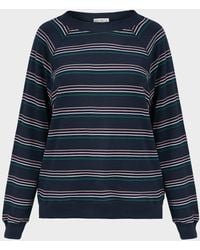 Wildfox Cheri Sommers Striped Sweater - Blue