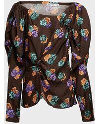 Rejina Pyo Cassie Floral Silk Blouse - Multicolour