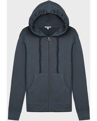 James Perse Vintage Fleece Zip-up Jacket - Blue