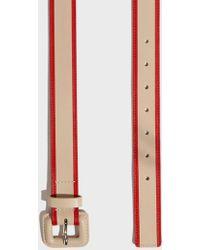 Missoni - Striped Belt, Size Eu80, Women, Beige - Lyst