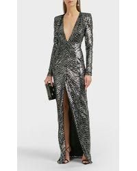 Alexandre Vauthier - Zebra-pattern Sequined Gown - Lyst