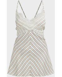 Victoria Beckham Striped Chantilly Lace Camisole - Multicolour