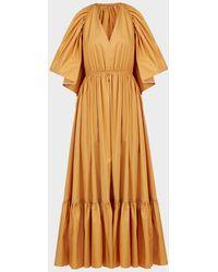 ROKSANDA Constance Cut-out Cotton Dress - Orange