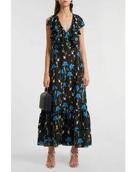 Borgo De Nor Carlotta Ruffled Printed Crepe De Chine Maxi Dress - Multicolour