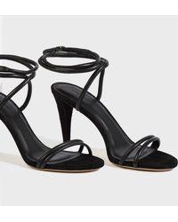 Isabel Marant - Abigua Heeled Leather Sandals, Size Fr36, Women, Black - Lyst