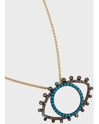Rosa De La Cruz - Eye Pendant Necklace - Lyst