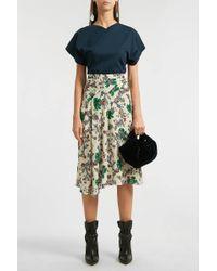 Isabel Marant Cacia Asymmetric Floral-print Stretch-silk Skirt - Multicolour