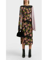Natasha Zinko - Floral-print Midi Dress - Lyst