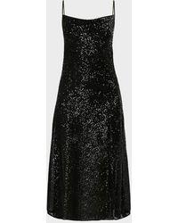 Jonathan Simkhai Sequinmed Cowl-neck Slip Dress - Black