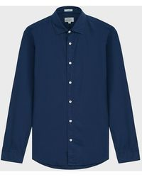 Hartford Sammy Slim-fit Cotton-poplin Shirt - Blue