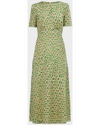 Paul & Joe Seduction Jacquard Maxi Dress - Green