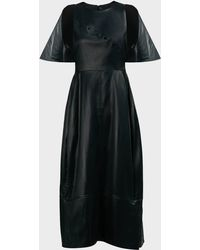 3.1 Phillip Lim Cape-sleeve A-line Dress - Black