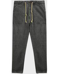 Nanushka Nova Denim Trousers - Grey