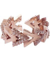 Maha Lozi - Camden Ring, Size France50, Women, Metallic - Lyst