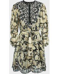 Rebecca Taylor - Mixed-print Clip Mini Dress - Lyst