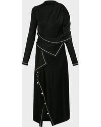 Monse - Cold-shoulder Midi Dress - Lyst