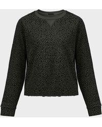 ATM Animal-print Cotton Jumper - Black