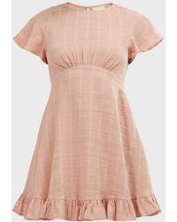 Auguste Pia Ruffled Mini Dress - Pink