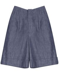 Adam Lippes - Denim Shorts - Lyst