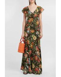 Paul & Joe Ruffled Floral-print Silk-chiffon Dress - Multicolor