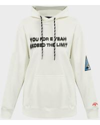 Alexander Wang Graphic-print Cotton-fleece Hoodie - White
