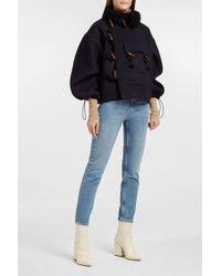 AF AGGER | Shearling-trimmed Wool-felt Jacket | Lyst