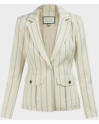 Alexis Enos Pinstripe Crepe Jacket - Multicolor