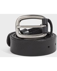 Golden Goose Houston Leather Belt - Black