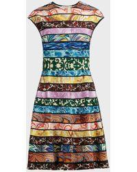Mary Katrantzou Pinto Printed Mini Dress - Blue