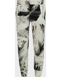 Norma Kamali Side Stripe Palm-print Joggers - Multicolour