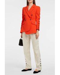 Altuzarra Lidig Striped Satin-twill Trousers - Natural