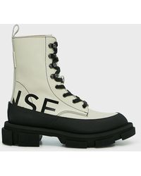Monse Gao Leather-rubber Boots - Multicolour