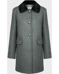 Paul & Joe Noureev Contrast-collar Coat - Gray