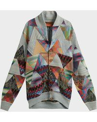 Missoni Patchwork Cotton-blend Cardigan - Multicolour