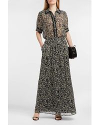 Paul & Joe Imagine Floral-print Silk-georgette Skirt - Black