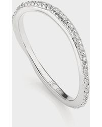 Monica Vinader Riva Wave Diamond Eternity Ring - Metallic