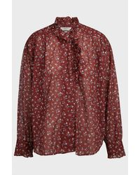 Étoile Isabel Marant Pamias Floral High-neck Top - Red